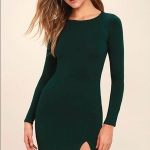 Lulus dark green body con